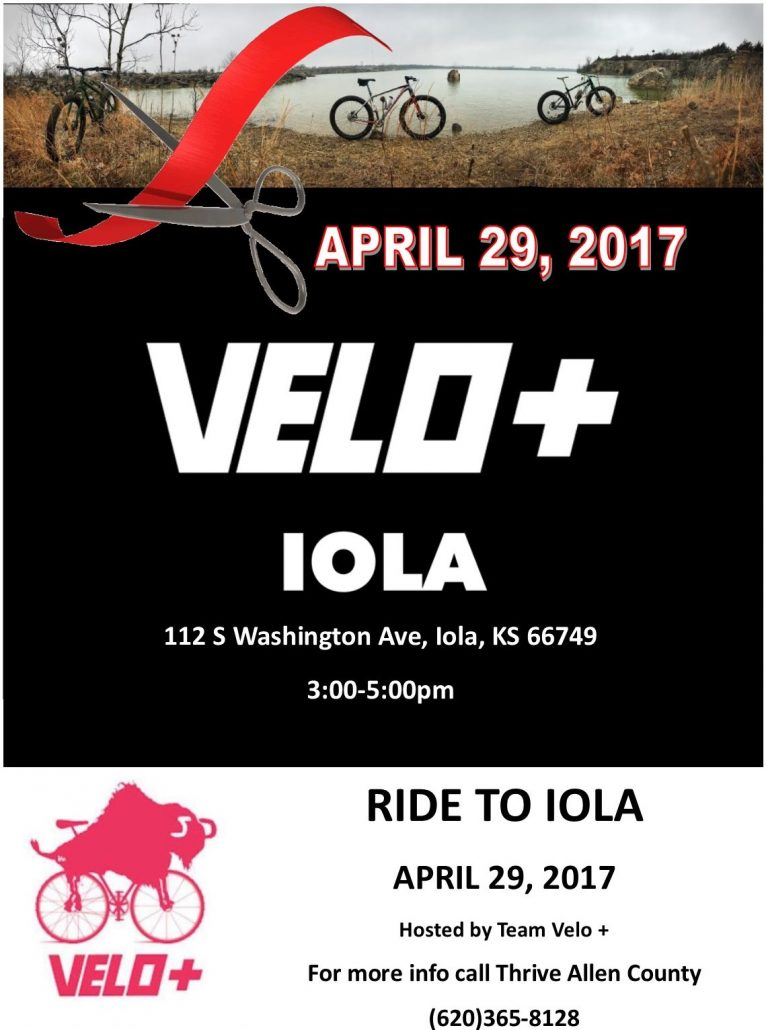 Kansas allen county iola - Velo Bike Store Grand Opening On April 29th